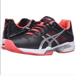 Asics Gel-Solution Speed 3 Black and Diva Pink/10